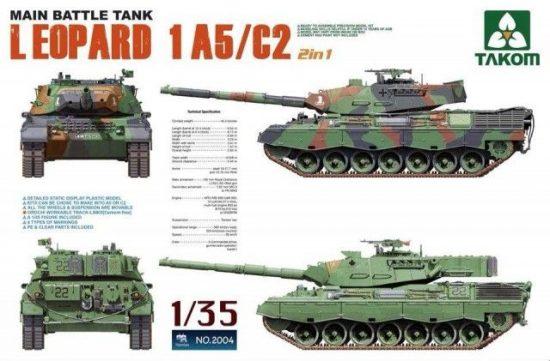 Takom Main Battle Tank Leopard 1 A5/C2 2 in 1 makett