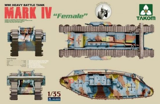 Takom WWI Heavy Battle Tank MARK IV Female makett