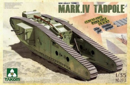 Takom WWI Heavy Battle Tank Mark IV Male Tadpole makett