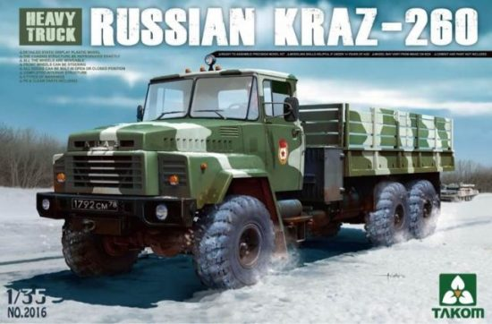 Takom RUSSIAN KRAZ-260 Heavy Truck makett