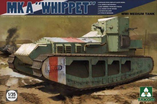 Takom Medium Tank Mk A Whippet makett