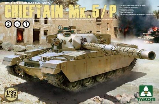 Takom British Main Battle Tank ChieftainMk.5/P makett