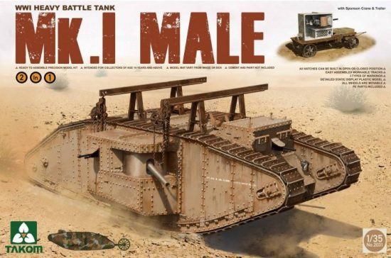 Takom WWI Heavy Battle Tank Mk.I male 2in1 makett