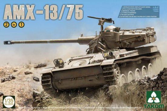 Takom IDF Light Tank AMX-13/75 2in1 makett