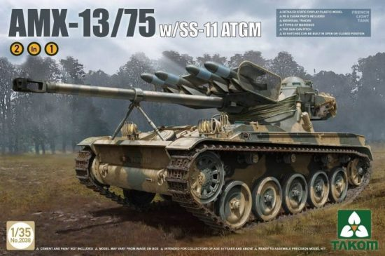 Takom French Light Tank AMX w. SS-11 ATGM makett