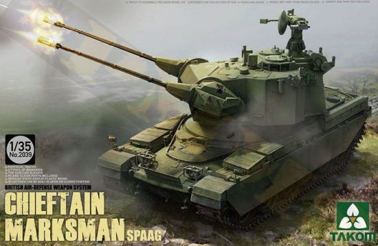 Takom British Air-defense Weapon System Chieftain Marksman SPAAG
