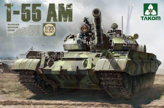 Takom Russian Medium Tank T-55AM makett
