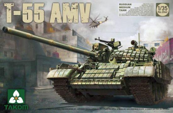 Takom Russian Medium Tank T-55AMV makett