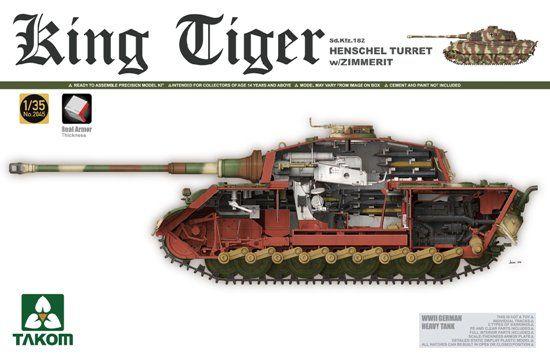 Takom Sd.Kfz.182 King Tiger Henschel Turret w/Zimmerit makett