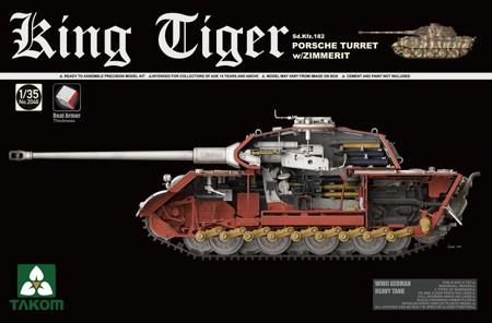 Takom Sd.KFZ.182 King Tiger Porsche Turret w/Zimmerit makett