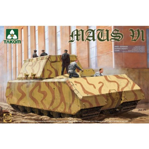 Takom German Super Heavy Tank Maus V1 makett