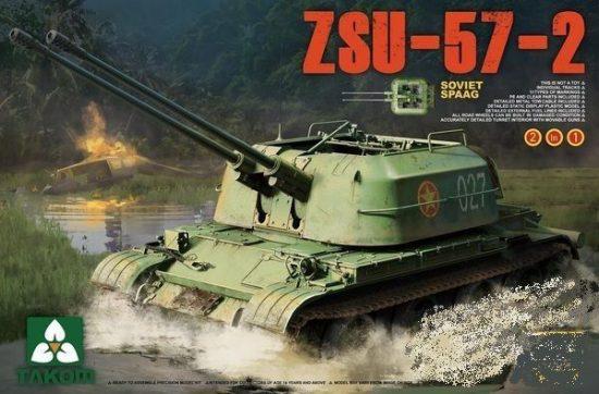 Takom Soviet SPAAG ZSU-57-2 2 in 1 makett