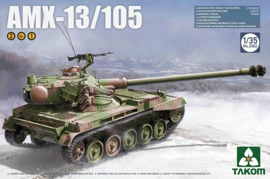 Takom French Light Tank AMX-13/105 makett