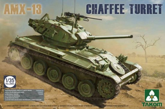 Takom French Light Tank AMX-13 Chaffe Turret makett