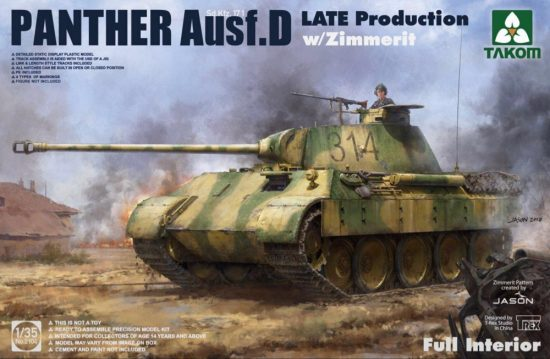 Takom Panther Ausf. D Late w/ Zimmerit Full Interior Kit makett