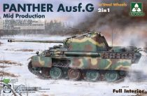 Takom Panther Ausf.G Mid. Production with Steel Wheels - full interior makett