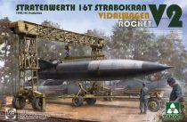 Takom Stratenwerth 16T Strabokran Vidalwagen V2 Rocket makett