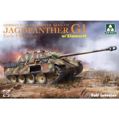 Takom Jagdpanther G1 early w/ Zimmerit full Interior makett