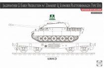 Takom Jagdpanther G1 Early Production w/Zimmerit & Schwerer Plattformwagen Type SSys makett