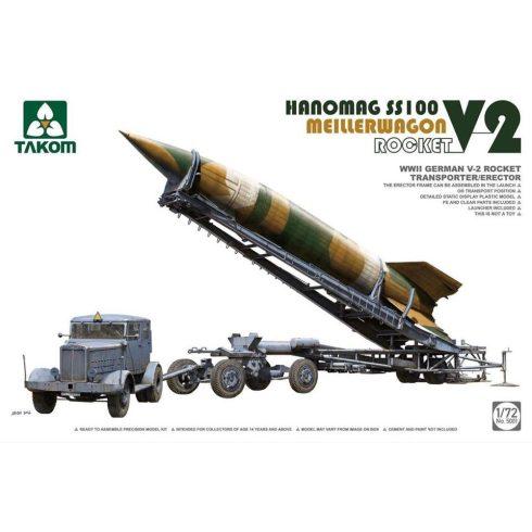 Takom V-2 Rocket, Hanomag SS100 & Meillerwagen makett