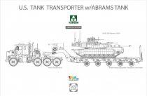Takom M1070 & M1000 with M1A2 SEP Abrams Tusk II makett