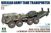 Takom MAZ-537G Tractor with CHMZAP-5247G Semitrailer makett