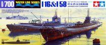 Tamiya IJN JAPANESE NAVY SUBMARINE I-16 & I-58 makett