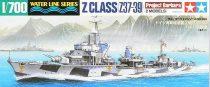 Tamiya GERMAN Z CLASS (Z37-39) PROJECT BARBARA makett