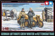 Tamiya GERMAN LUFTWAFFE CREW (WINTER) W/ KETTENKRAFTRAD makett