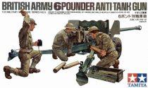 Tamiya British 6pdr Anti-Tank Gun and crew makett
