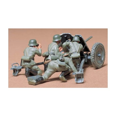 Tamiya German 37mm Anti-tank Gun makett