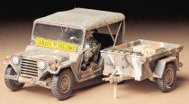 Tamiya U.S. Ford Mutt w/M416 Trailer makett