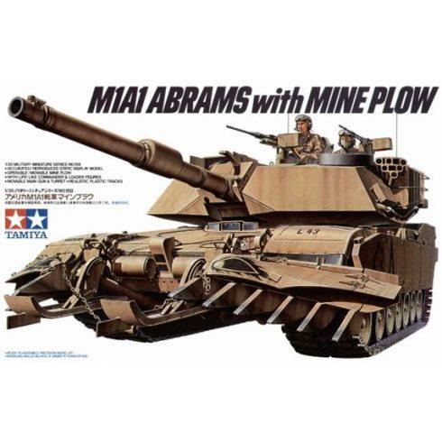 Tamiya US M1A1 ABRAMS MINENSUCHER makett