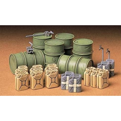 Tamiya German Fuel Drum Set
