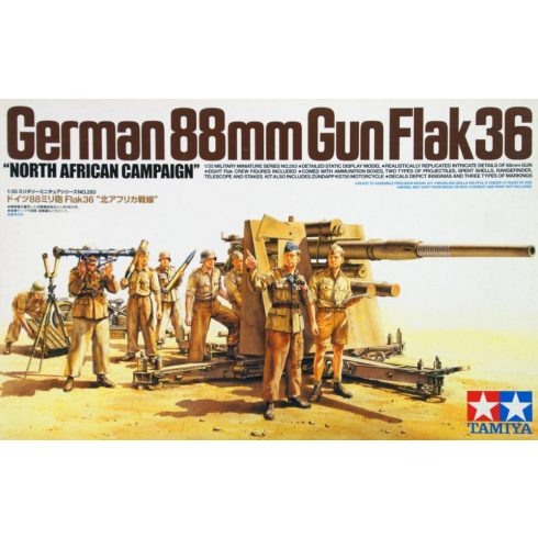 Tamiya German 88mm Gun Flak36 makett