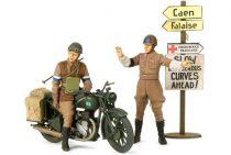 Tamiya British BSA M20 Motorcycle - w/Military Police Set makett
