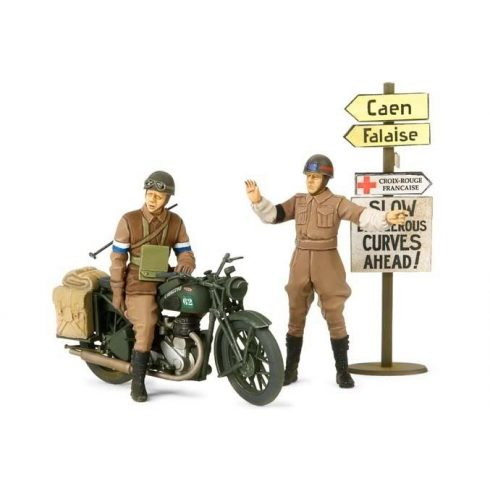 Tamiya British BSA M20 Motorcycle - w/Military Police Set makett