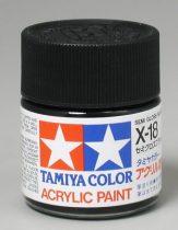 Tamiya Mini Acrylic X-18 Semi Gloss Black