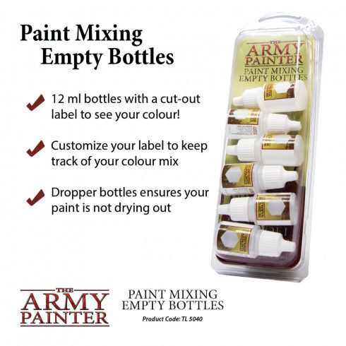 The Army Painter Paint Mixing - festékkeverő üvegek
