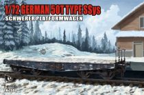 T-Model 50 tons Type SSys Schwerer Plattformwagen makett