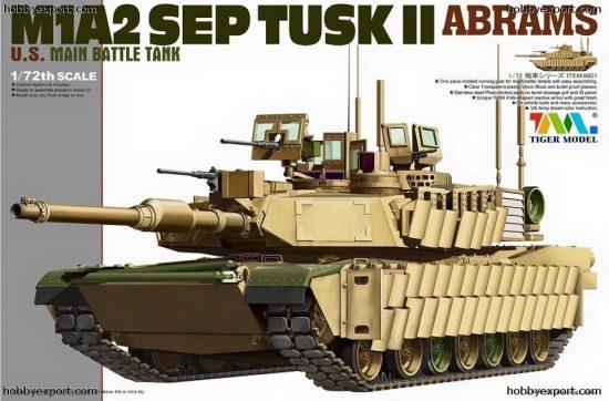 Tiger Model U.S M1A2 Tusk II Abrams MBT makett
