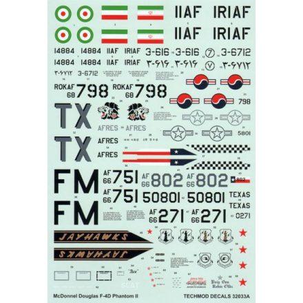 Techmod McDonnell F-4D Phantom II matrica