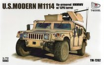 T-Model M1114 Up-armored HMMWV w/ GPK Turret makett