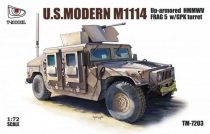 T-Model M1114 Up-armored HMMWV FRAG 5 w/ GPK Turret makett
