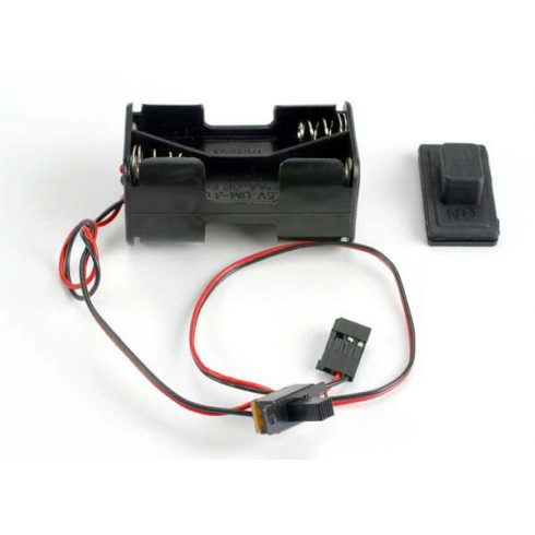 Traxxas Battery holder with on/off switch/ rubber on/off switch cover