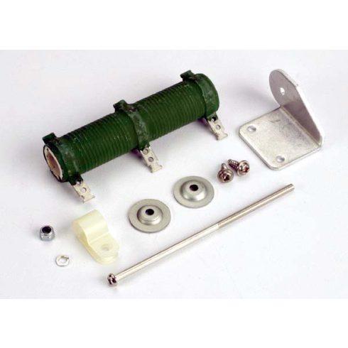 Traxxas Resistor (h.d. ceramic tube)/ resistor mounting bracket/ resistor wire keeper/ 2.6x8mm panhead screws