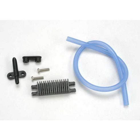 Traxxas Watercooling kit, EVX Marine ESC (heat sink (1)/ water pickup (1)/ backing plate (1)/ 3x12RM (stainless) (2)/ tubing (1ft.)