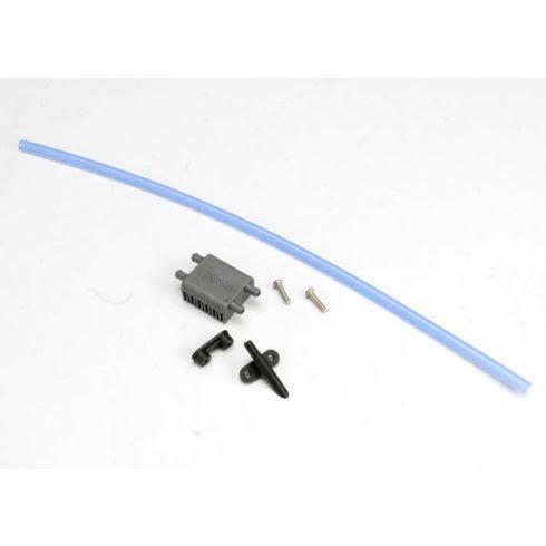 Traxxas Watercooling kit, XL-10M ESC (heat sink (1)/ water pickup (1)/ backing plate (1)/ 3x12RM (stainless) (2)/ tubing (1ft)
