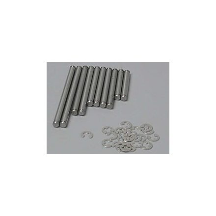Suspension pin set, stainless steel