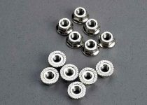Traxxas Nuts, 3mm flanged (12)